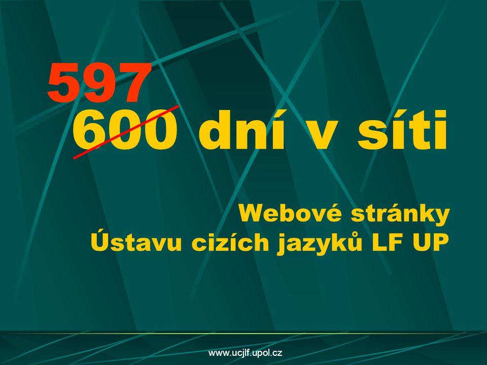 600 dní v síti Webové stránky Ústavu cizích jazyků LF UP