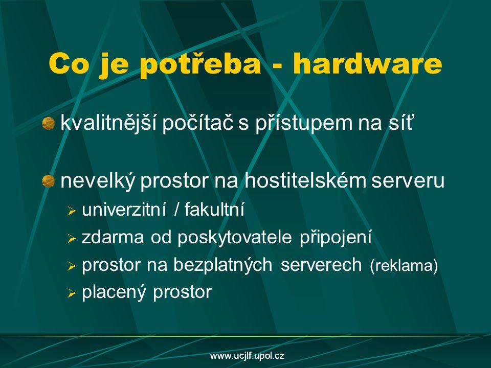 Co je potřeba - hardware