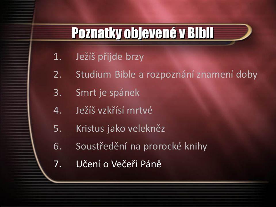 Poznatky objevené v Bibli