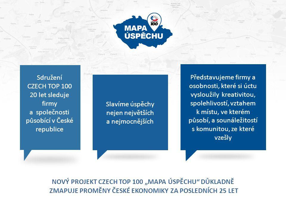 """Nový projekt CZECH TOP 100 """"MAPA ÚSPĚCHU důkladně"""
