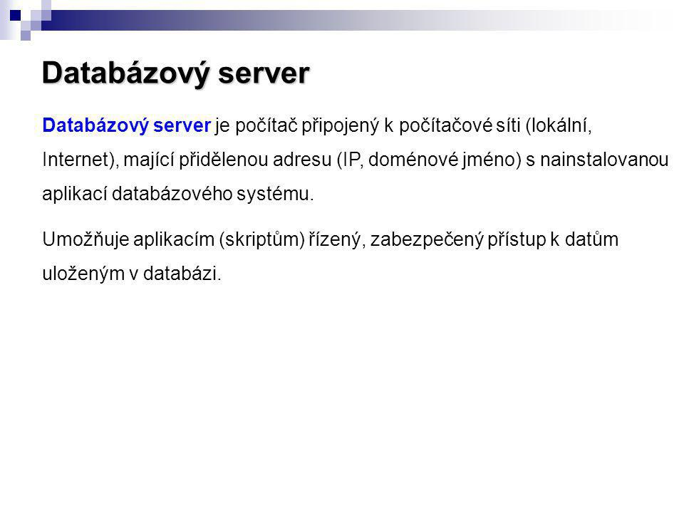 Databázový server