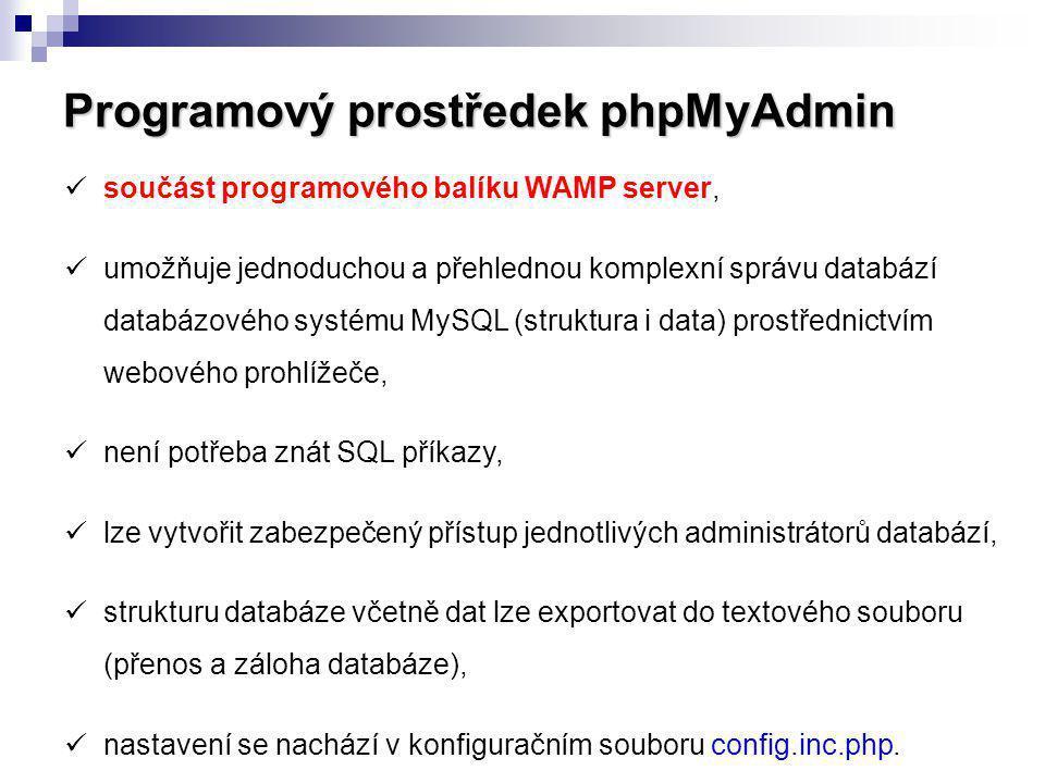 Programový prostředek phpMyAdmin