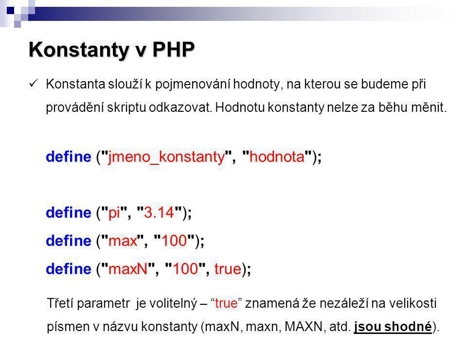 Konstanty v PHP