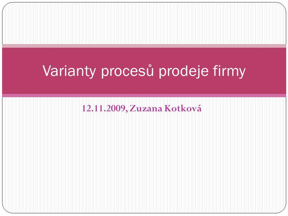 Varianty procesů prodeje firmy