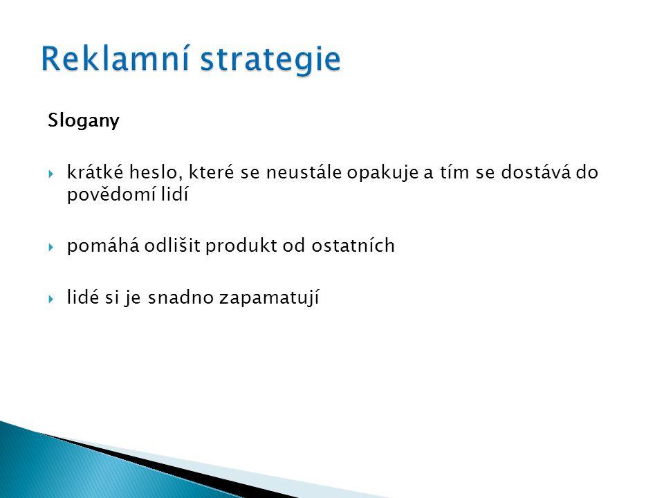 Reklamní strategie Slogany
