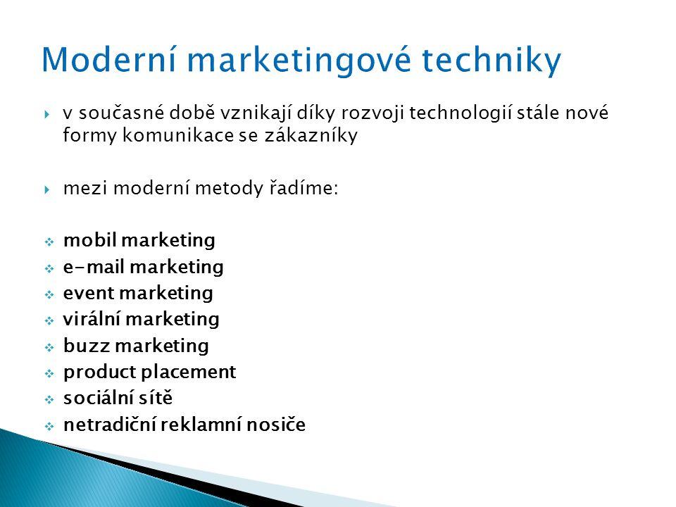 Moderní marketingové techniky