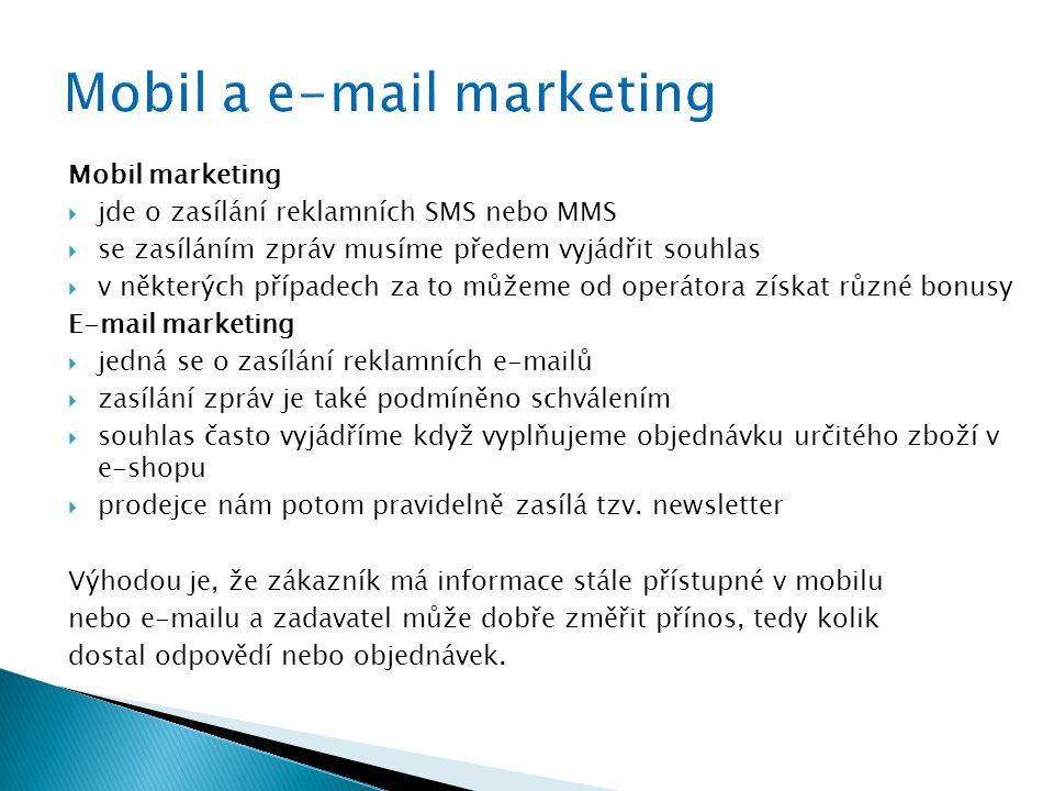 Mobil a  marketing