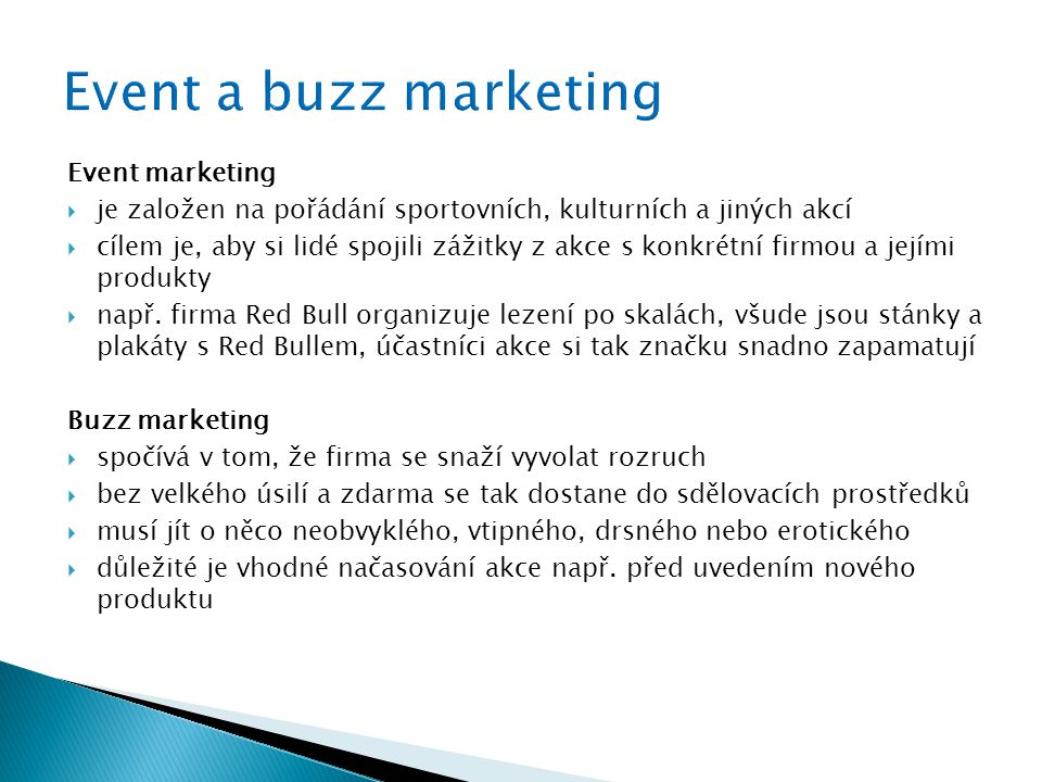 Event a buzz marketing Event marketing