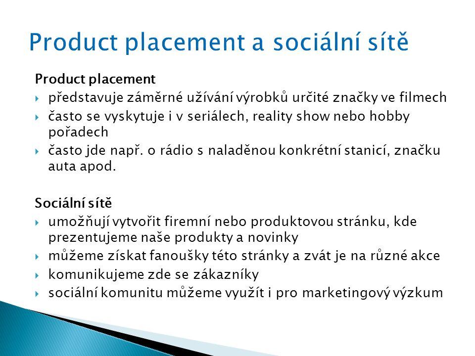 Product placement a sociální sítě