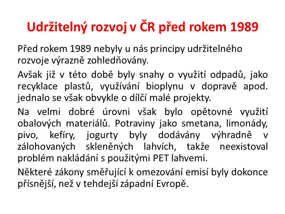 Udržitelný rozvoj v ČR před rokem 1989