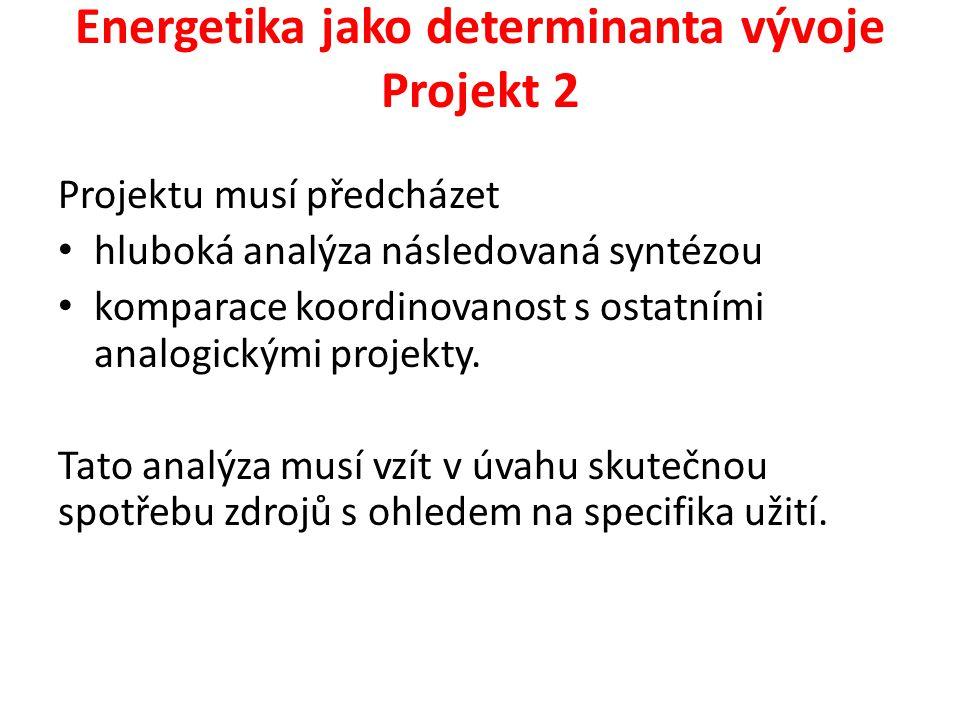 Energetika jako determinanta vývoje Projekt 2