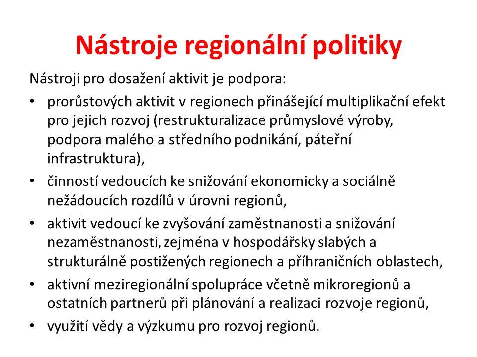 Nástroje regionální politiky