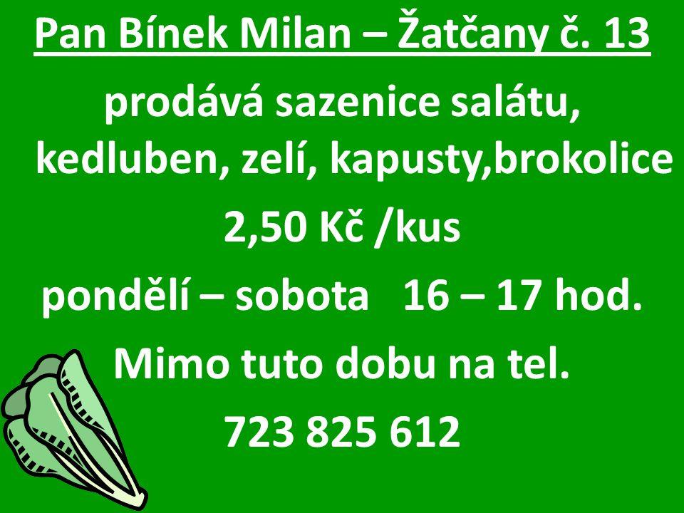 Pan Bínek Milan – Žatčany č