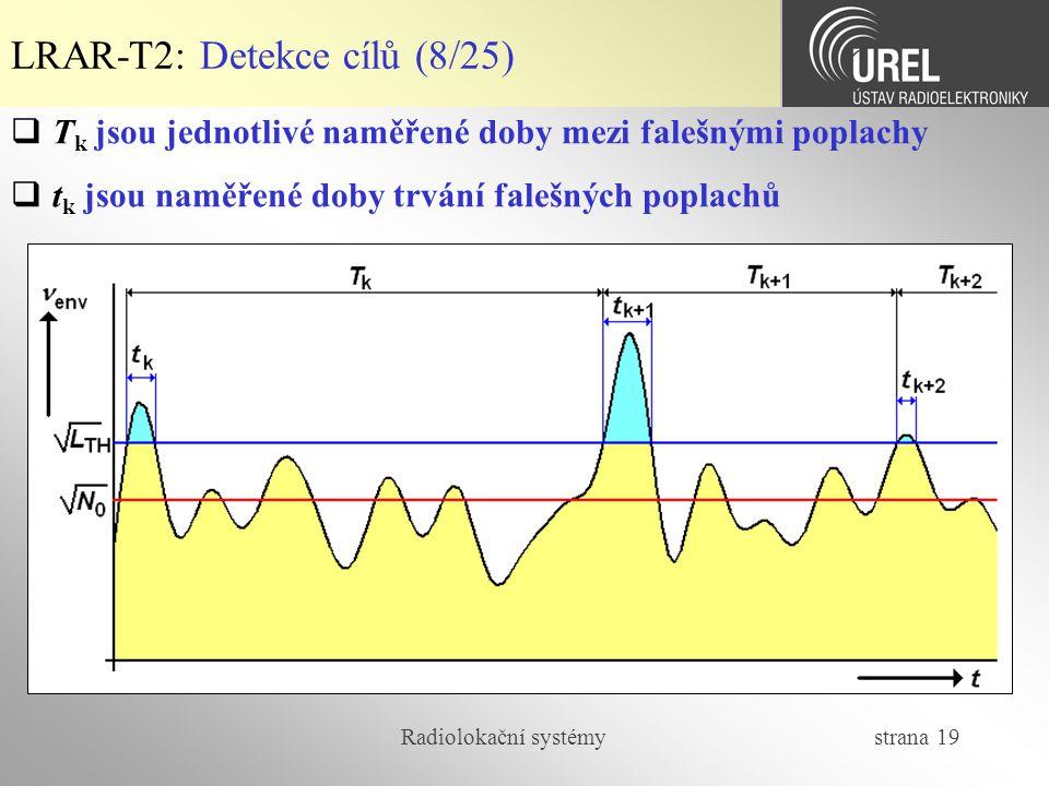 LRAR-T2: Detekce cílů (8/25)