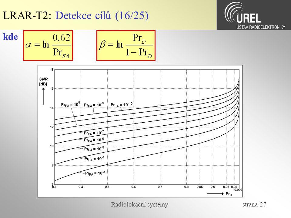 LRAR-T2: Detekce cílů (16/25)