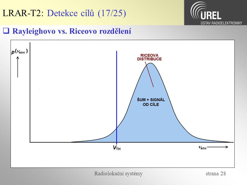 LRAR-T2: Detekce cílů (17/25)