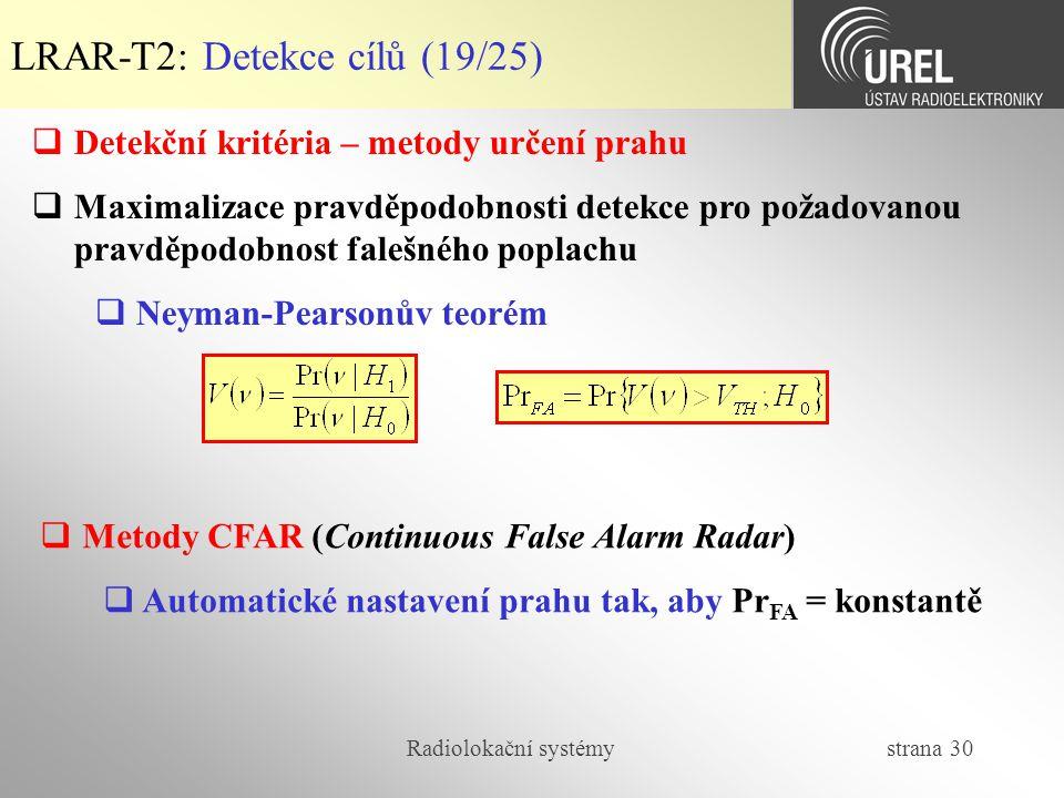 LRAR-T2: Detekce cílů (19/25)