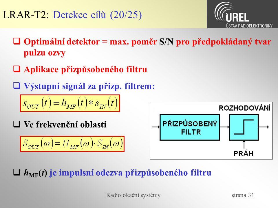 LRAR-T2: Detekce cílů (20/25)