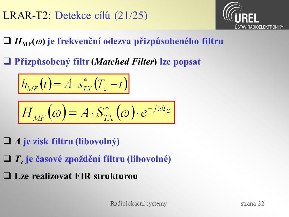 LRAR-T2: Detekce cílů (21/25)