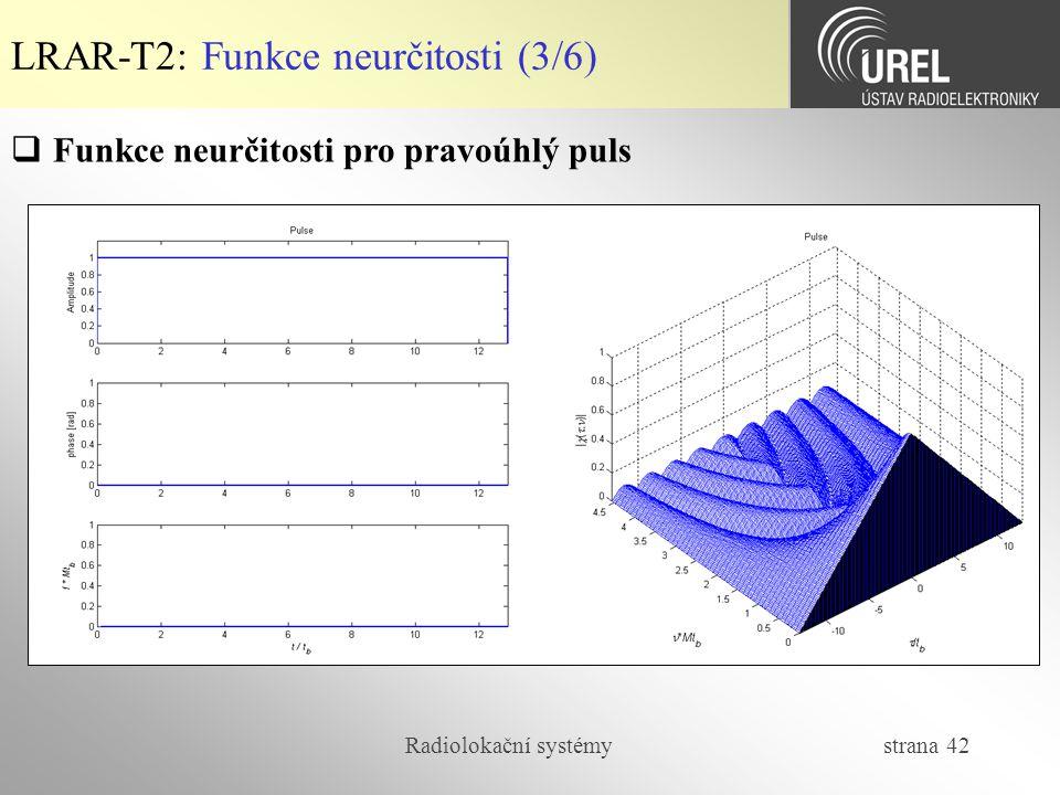LRAR-T2: Funkce neurčitosti (3/6)