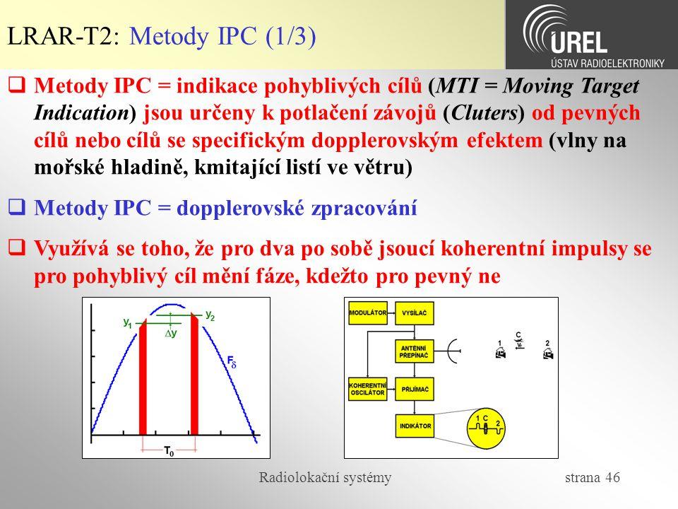 LRAR-T2: Metody IPC (1/3)
