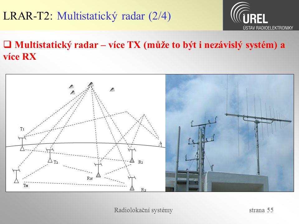 LRAR-T2: Multistatický radar (2/4)