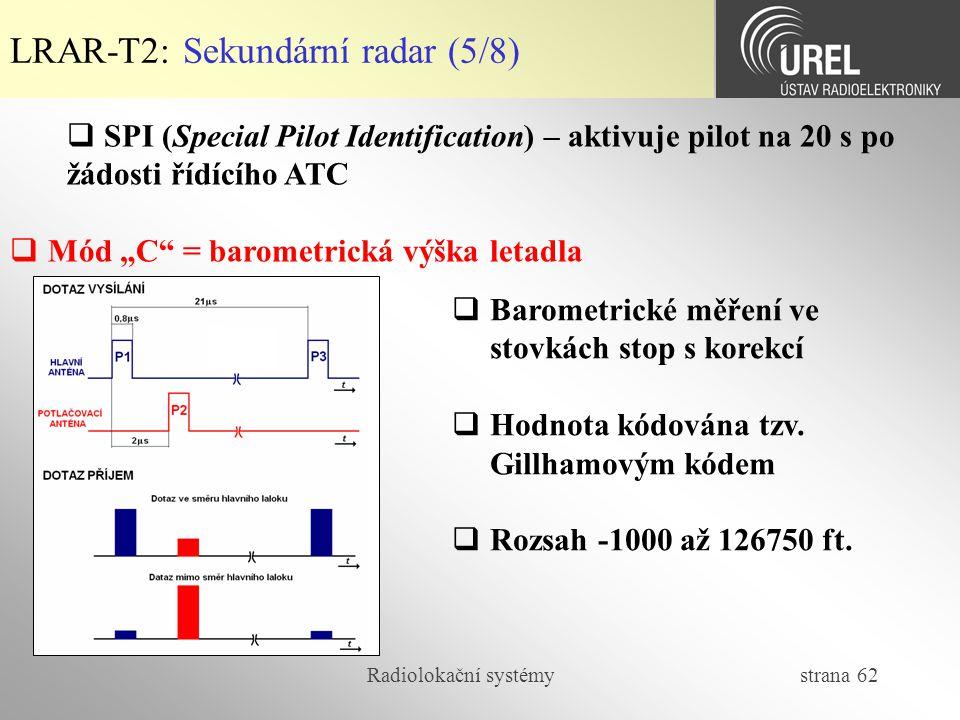 LRAR-T2: Sekundární radar (5/8)