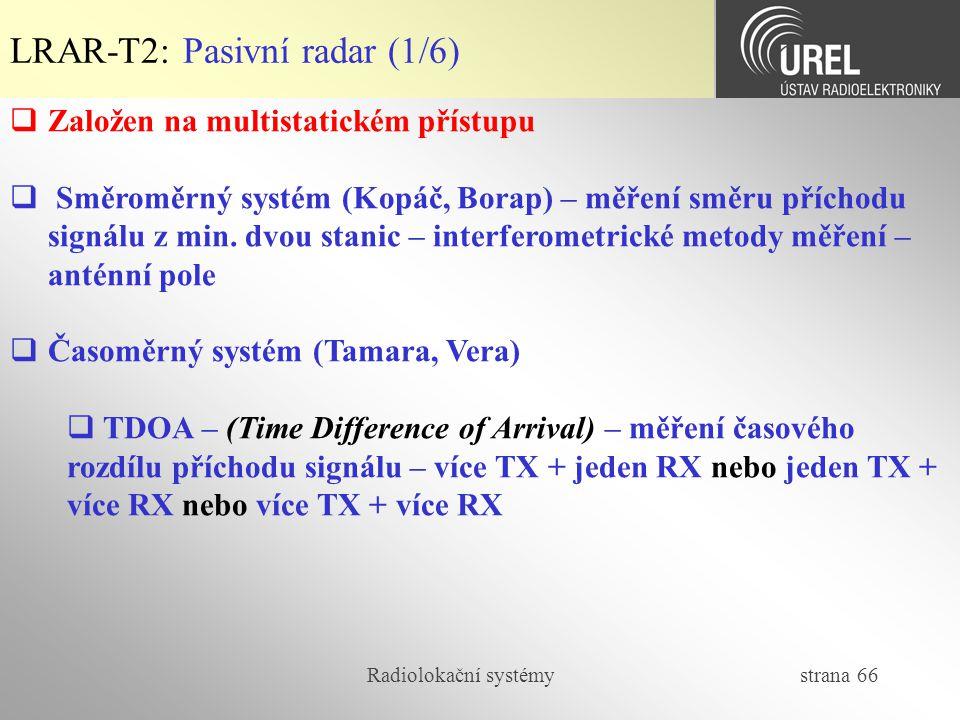 LRAR-T2: Pasivní radar (1/6)
