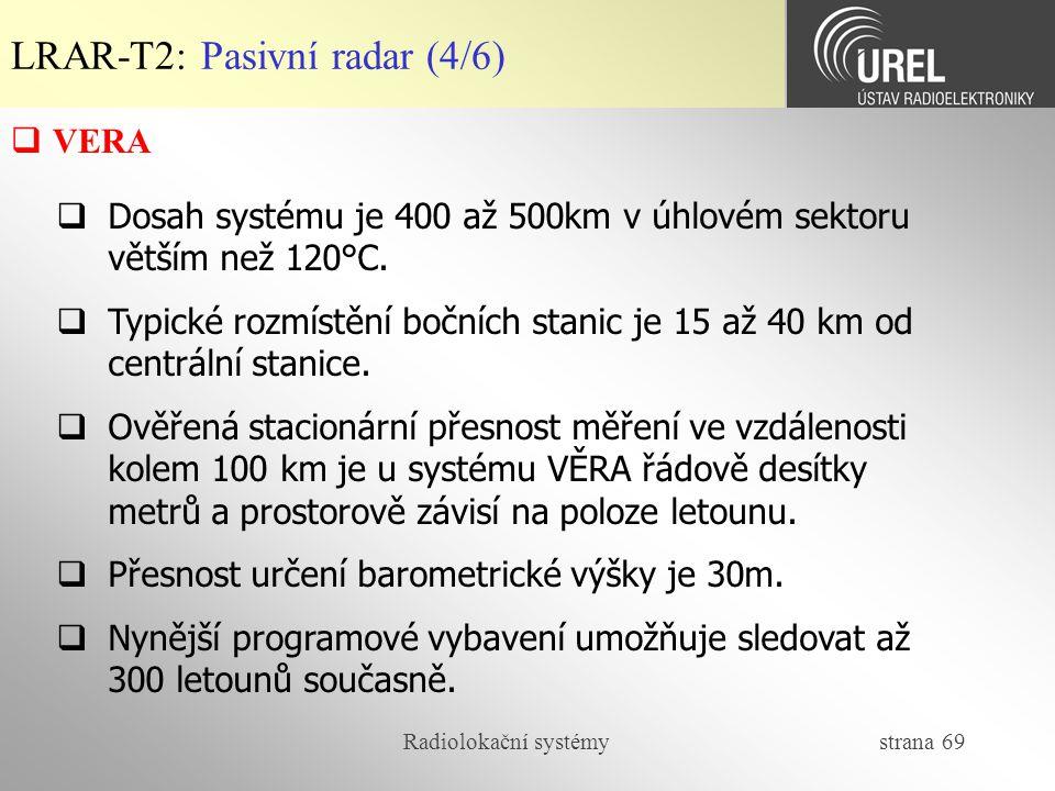 LRAR-T2: Pasivní radar (4/6)