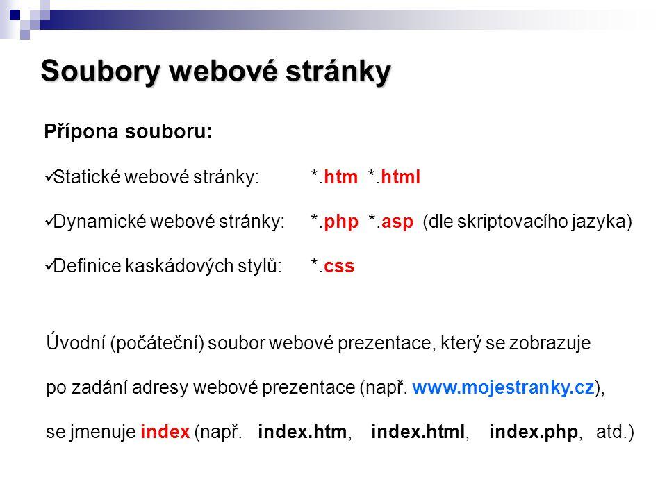 Soubory webové stránky