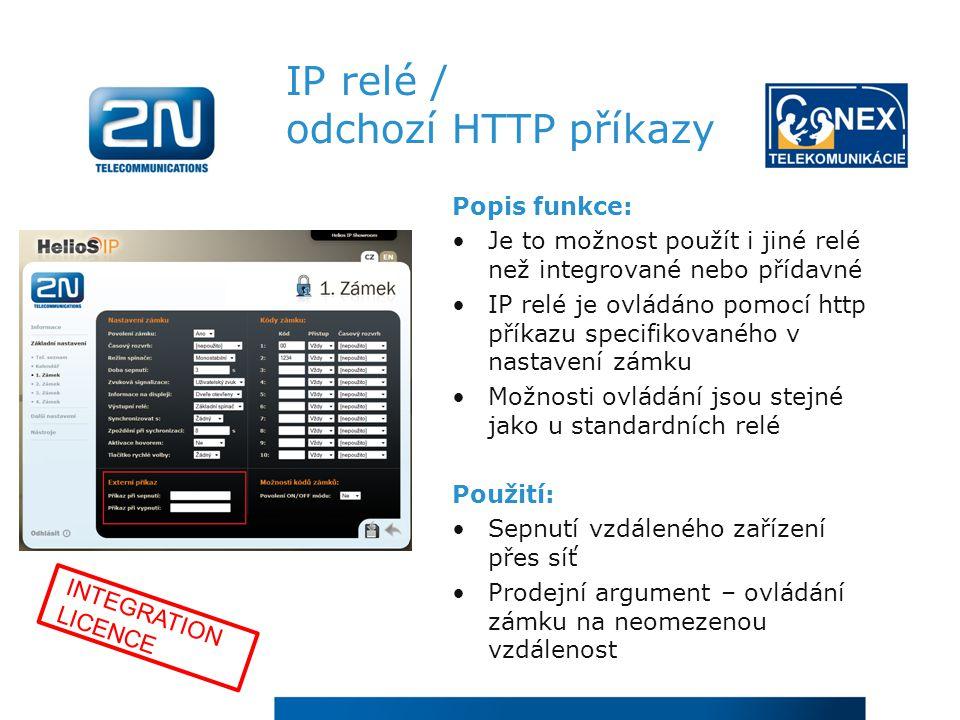 IP relé / odchozí HTTP příkazy
