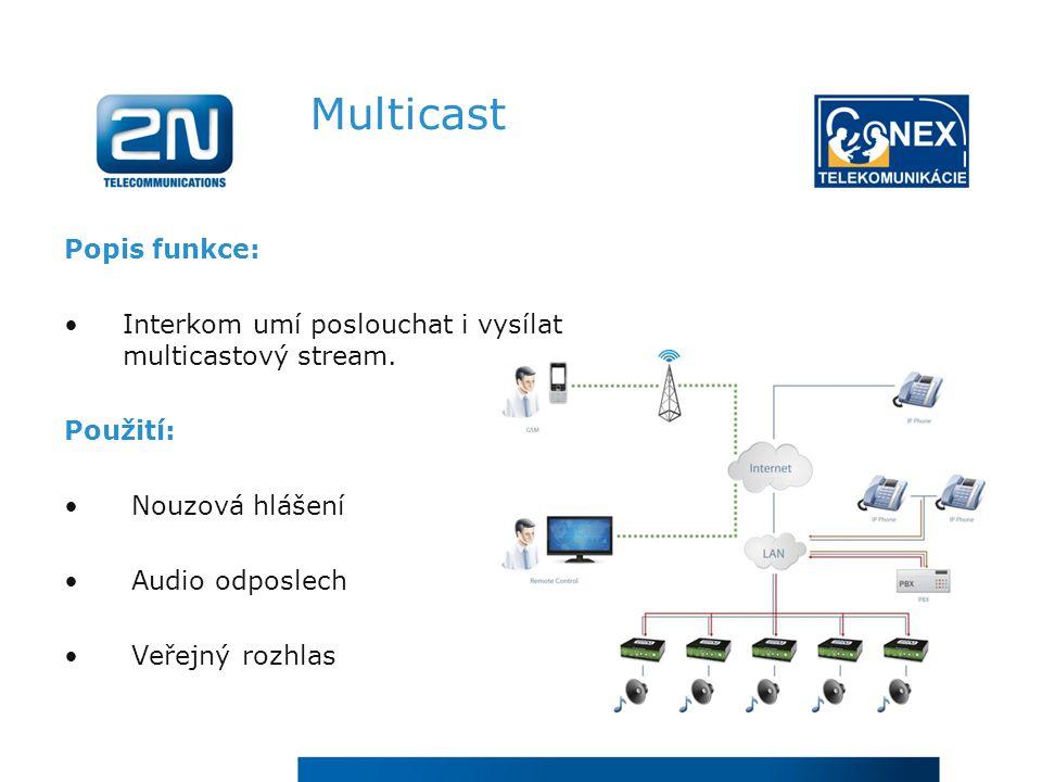 Multicast Popis funkce: