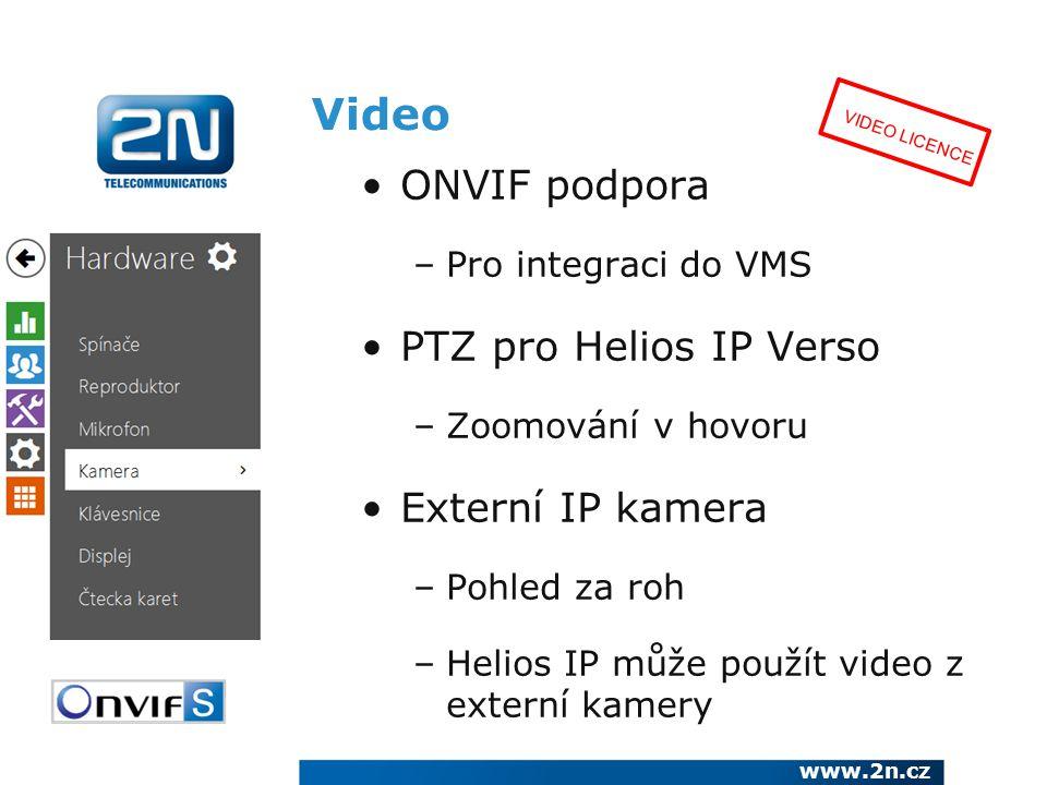 Video ONVIF podpora PTZ pro Helios IP Verso Externí IP kamera