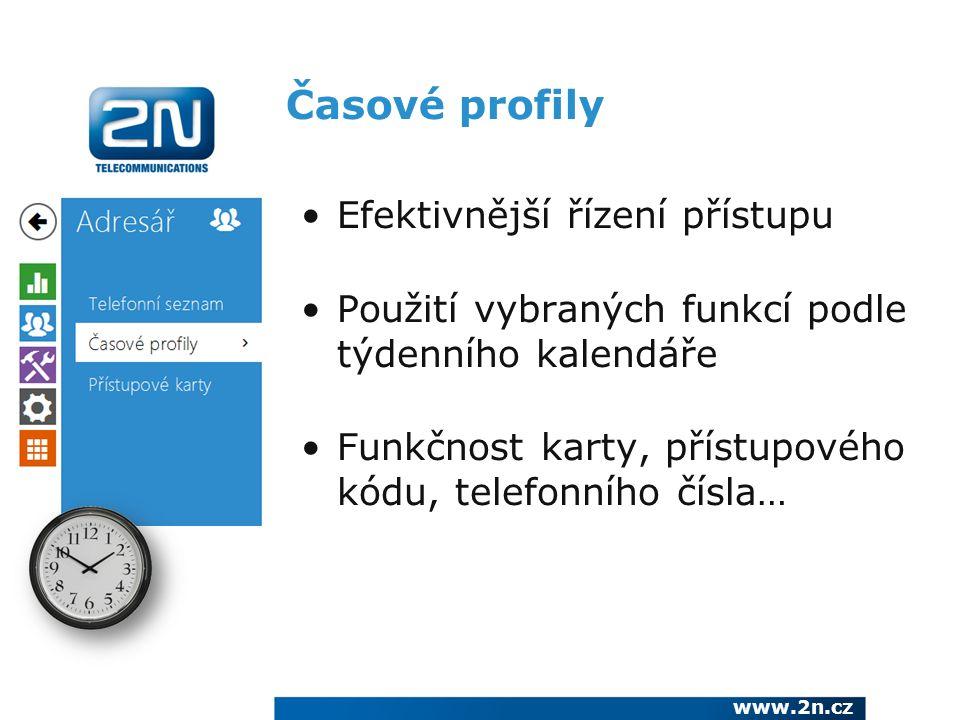 Časové profily Efektivnější řízení přístupu