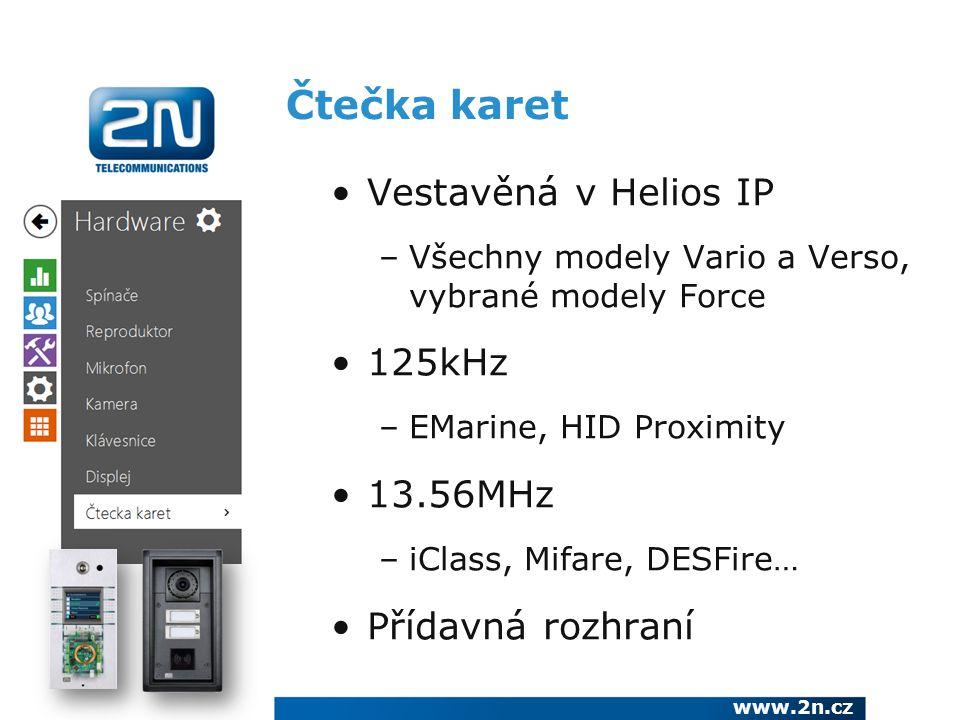 Čtečka karet Vestavěná v Helios IP 125kHz 13.56MHz Přídavná rozhraní