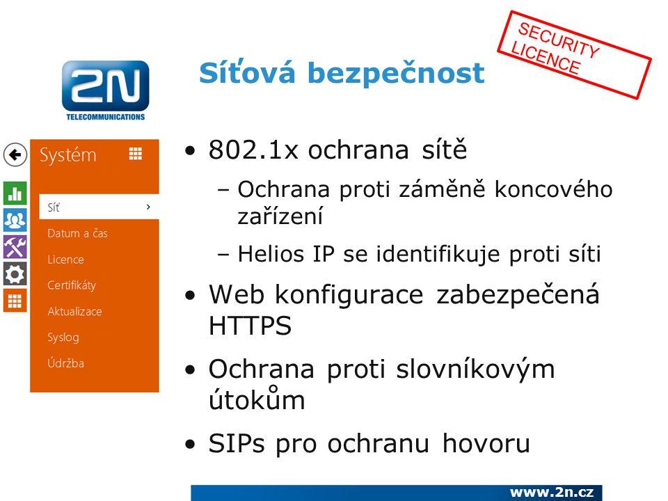 Síťová bezpečnost 802.1x ochrana sítě