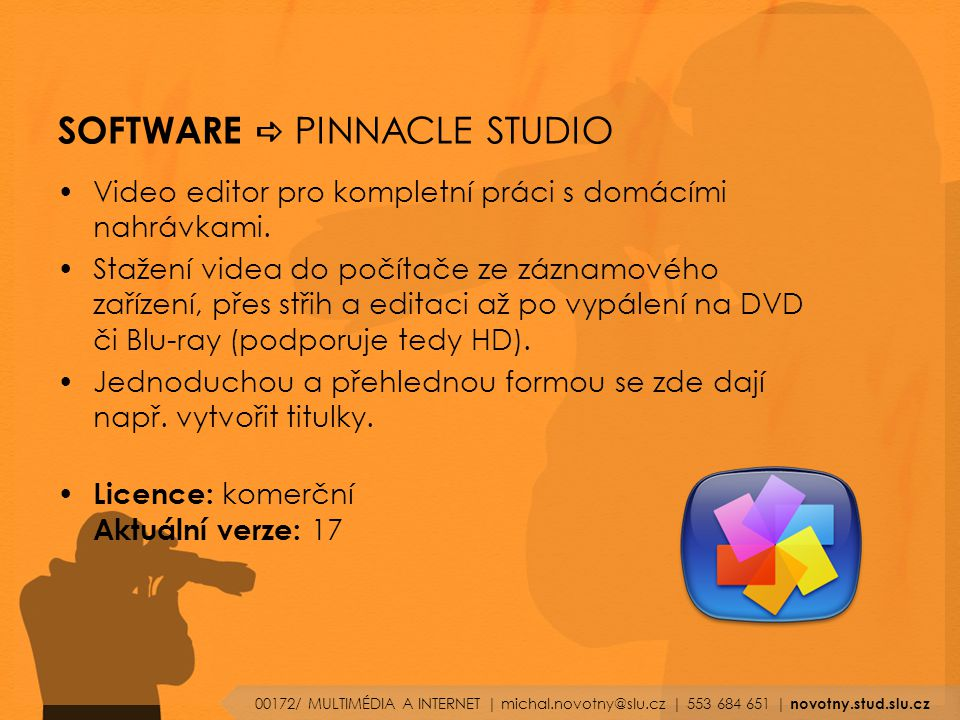 SOFTWARE a PINNACLE STUDIO