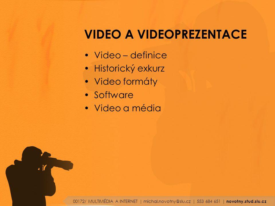 VIDEO A VIDEOPREZENTACE