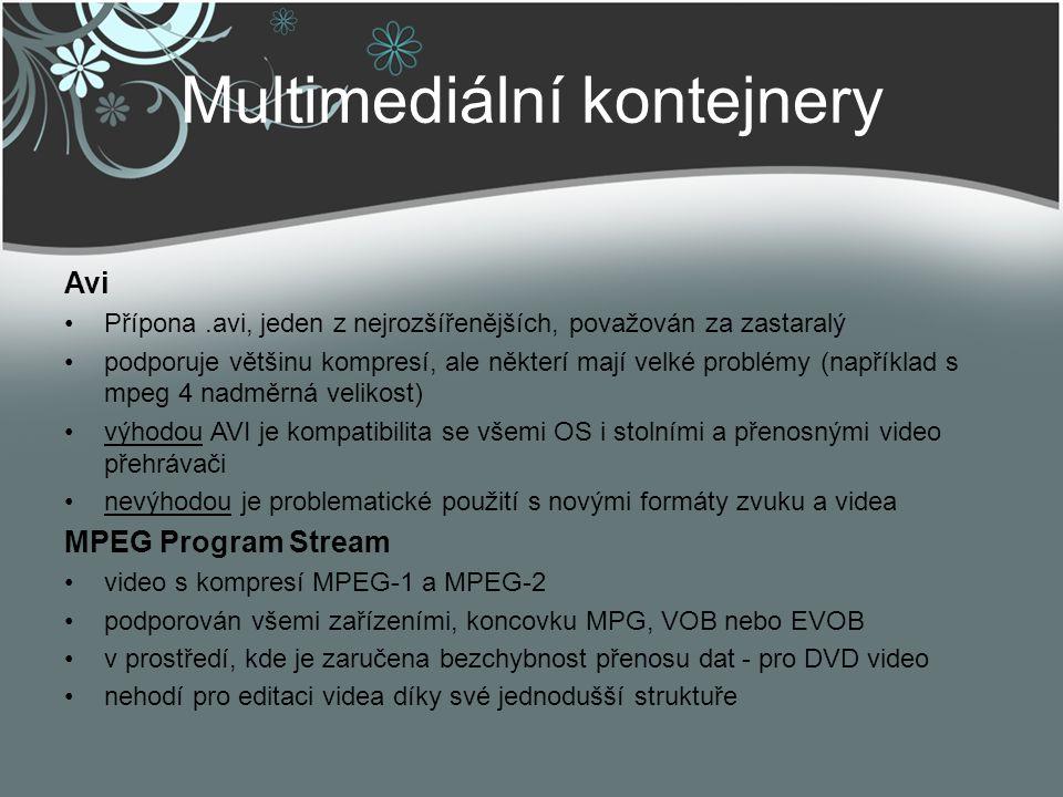 Multimediální kontejnery