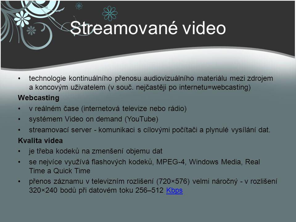 Streamované video