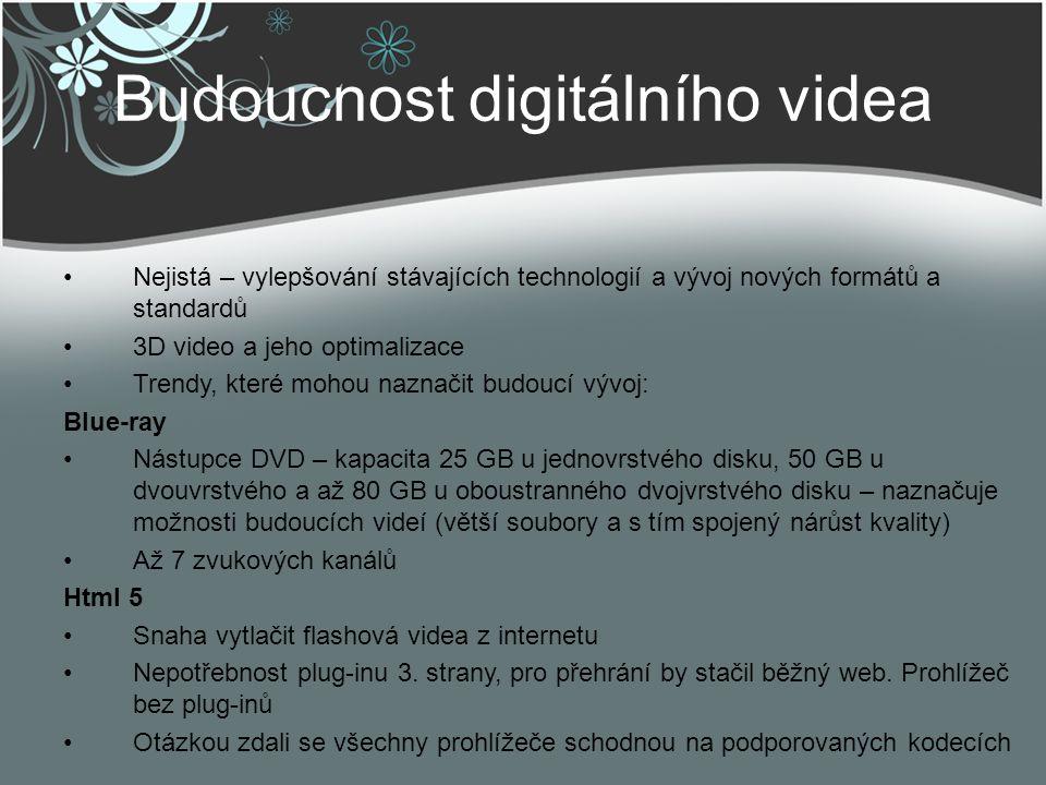 Budoucnost digitálního videa