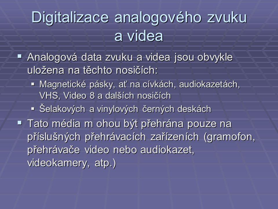 Digitalizace analogového zvuku a videa