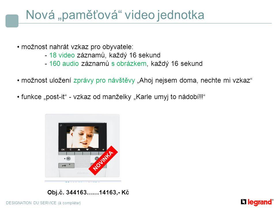 """Nová """"paměťová video jednotka"""