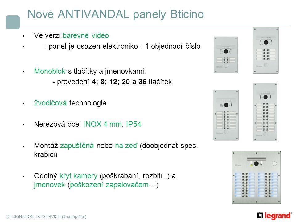 Nové ANTIVANDAL panely Bticino