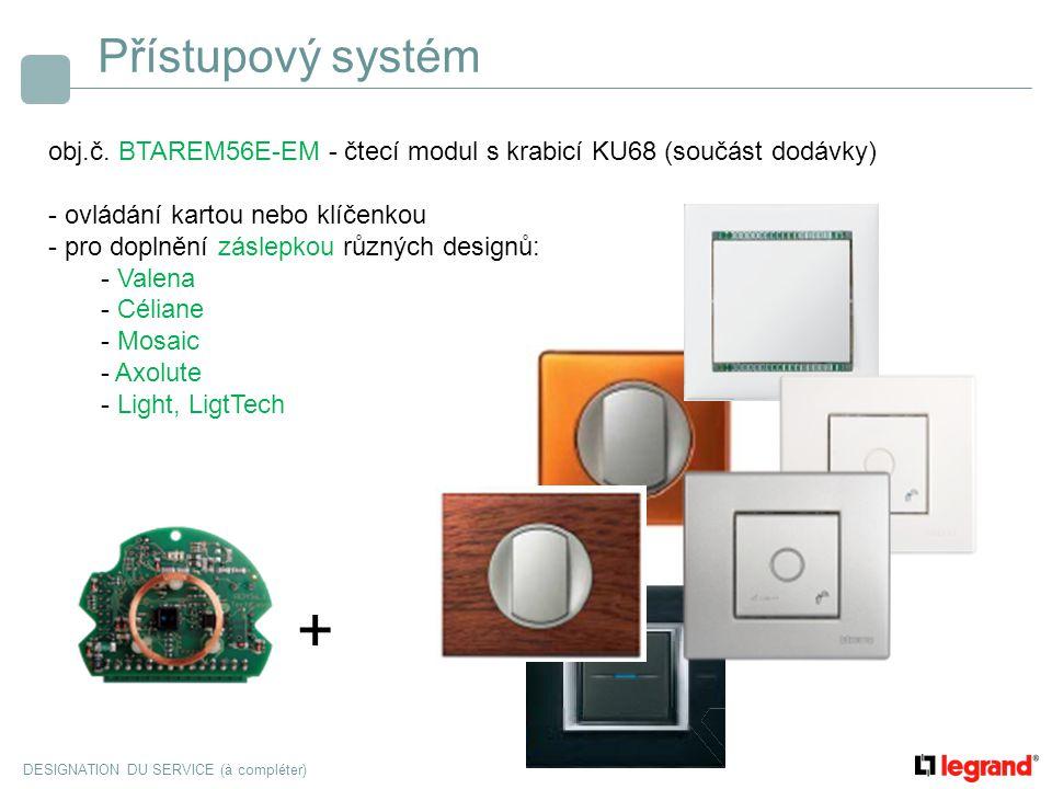 Přístupový systém obj.č. BTAREM56E-EM - čtecí modul s krabicí KU68 (součást dodávky) - ovládání kartou nebo klíčenkou.
