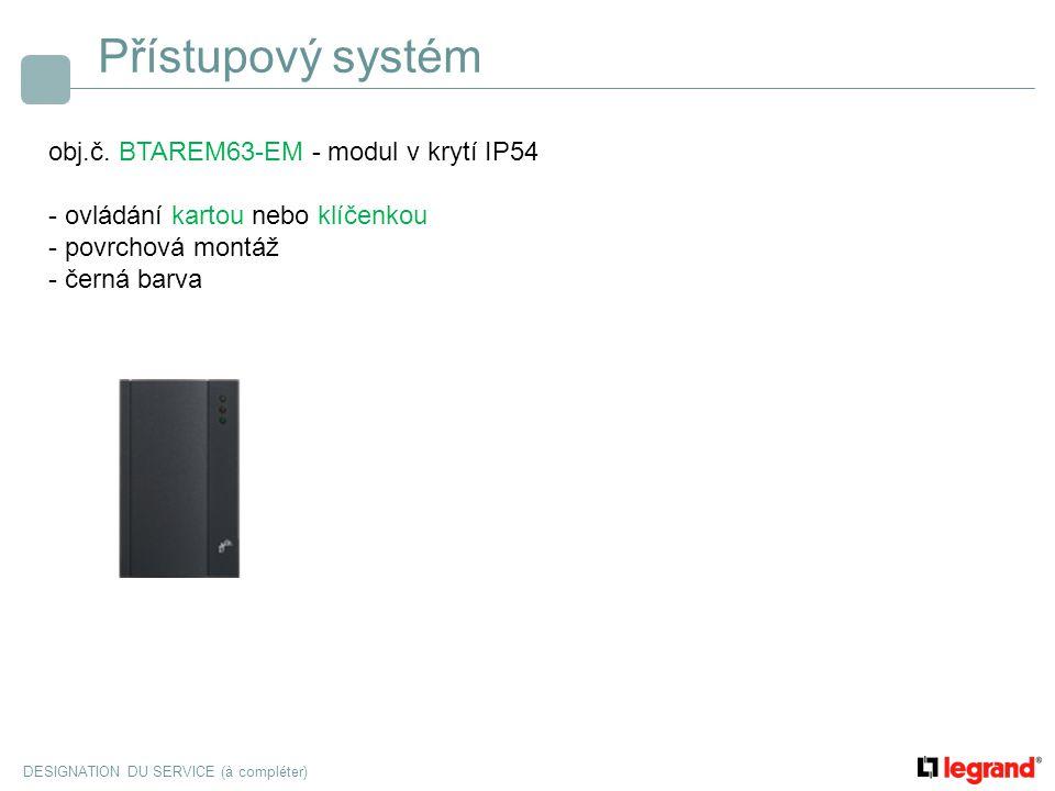 Přístupový systém obj.č. BTAREM63-EM - modul v krytí IP54