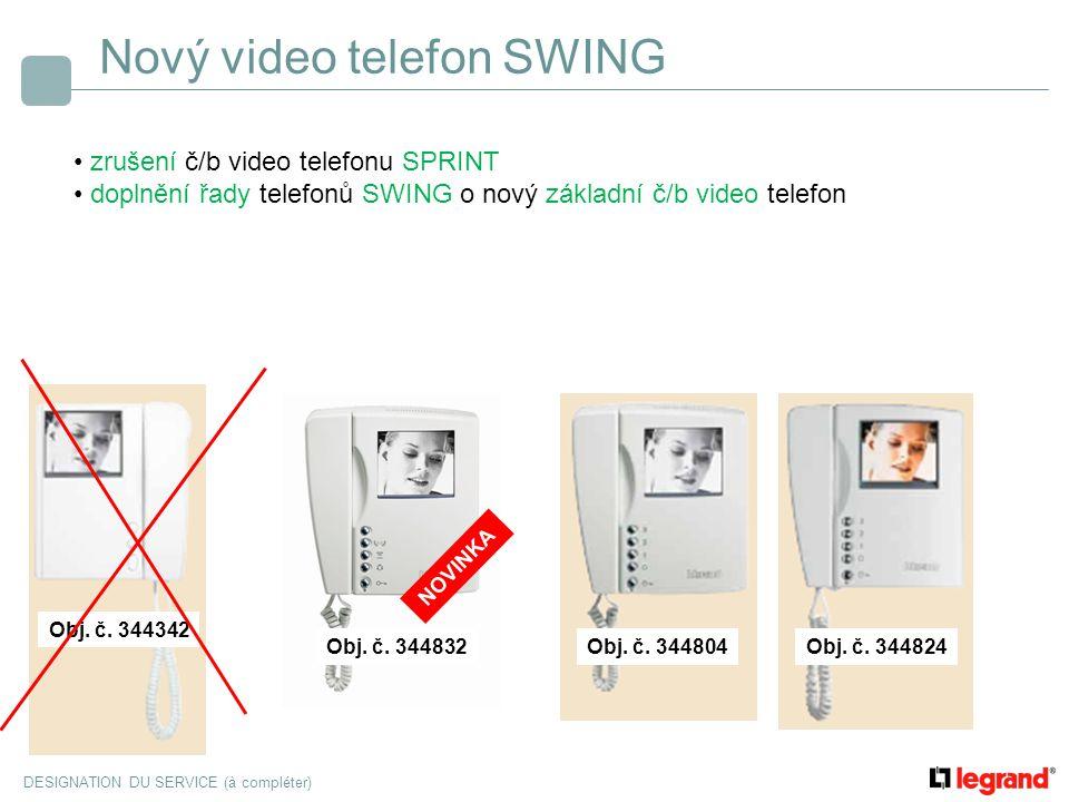 Nový video telefon SWING