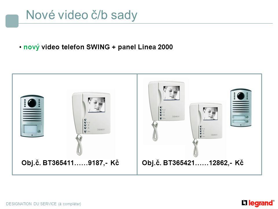 Nové video č/b sady nový video telefon SWING + panel Linea 2000