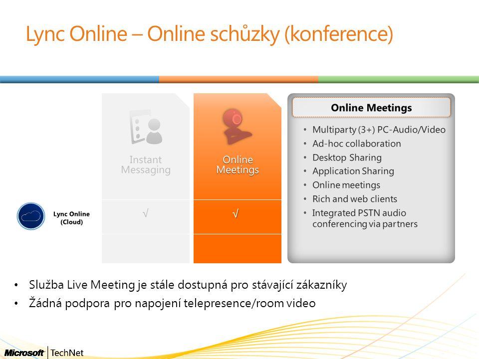 Lync Online – Online schůzky (konference)