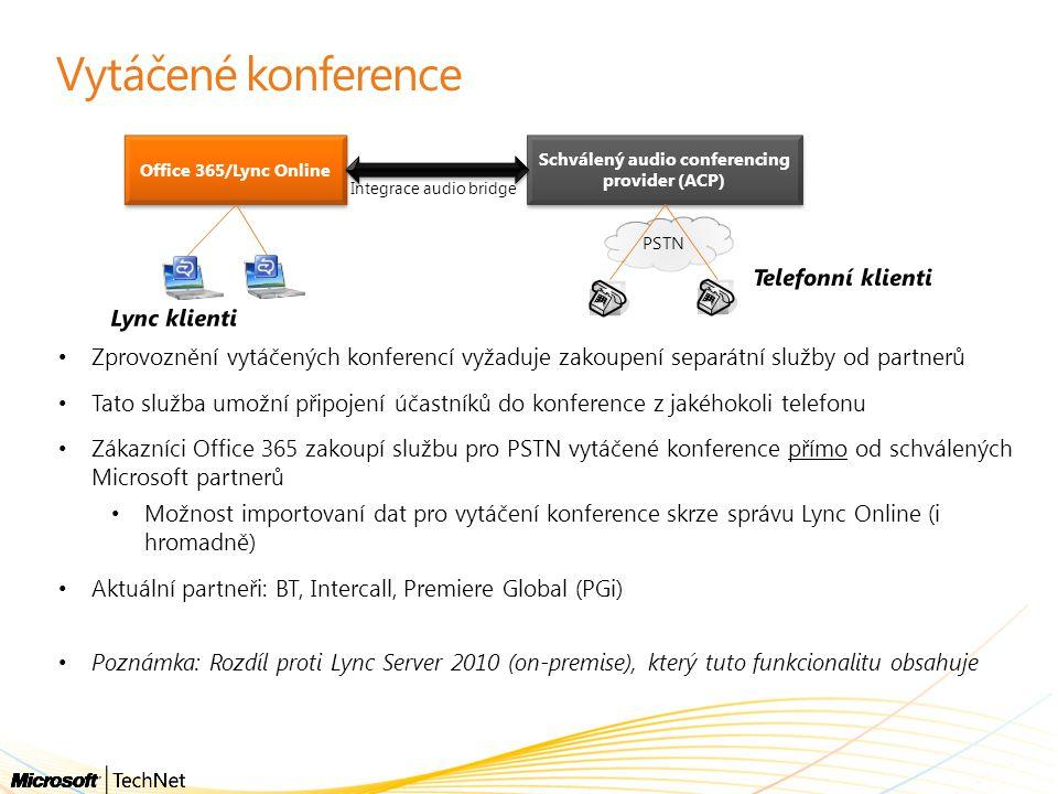Schválený audio conferencing provider (ACP)